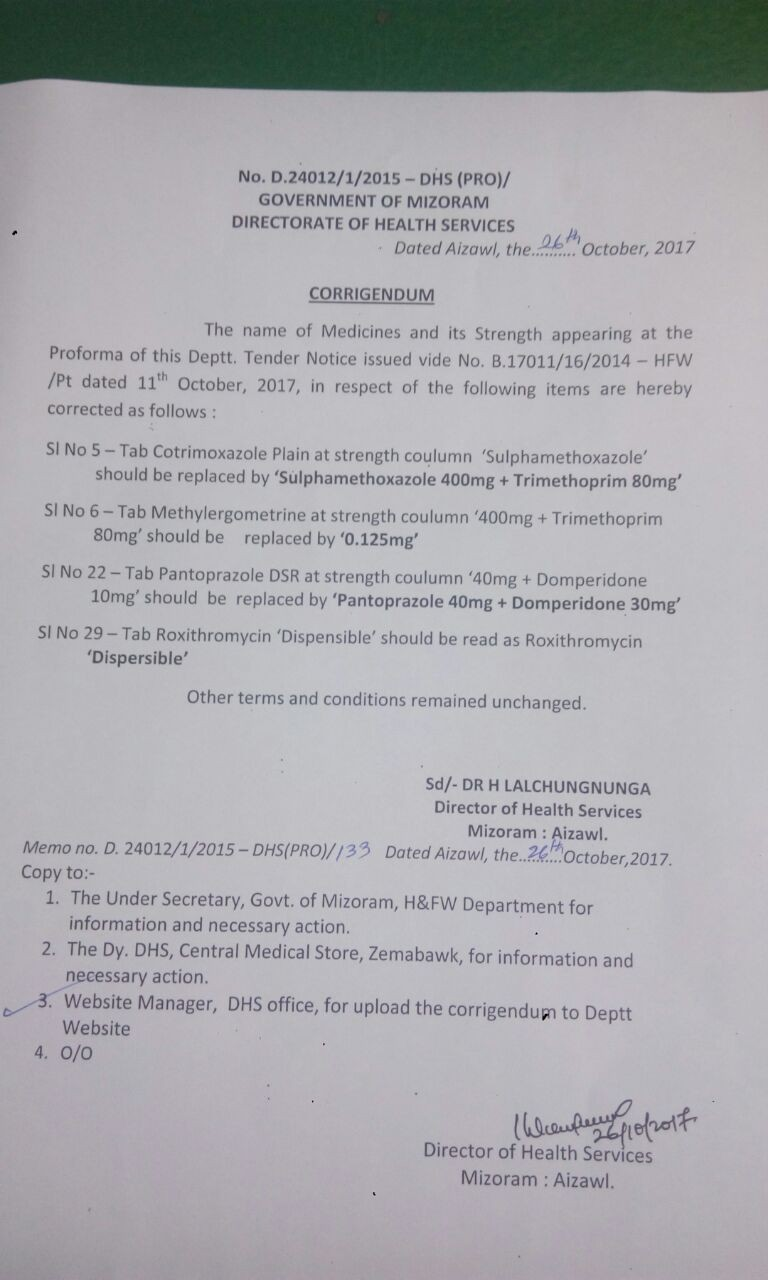 Medical abbreviations tha - Corrigendum On Tender No B 17011 16 2014 Hfw Pt Dt